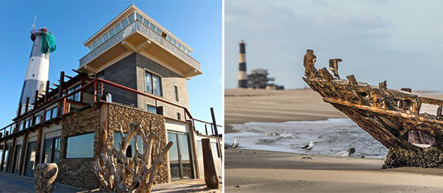pelican point lodge, walvis bay, namibia, remote, private, accommodation, guest house, bed and breakfast, honeymoon accommodation, wine and dine